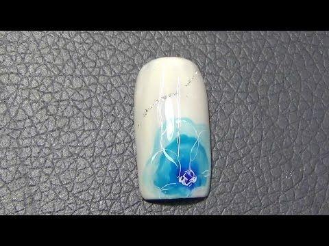 ふんわりフラワーネイルの描き方【MITSUのネイルアート教室】 - YouTube