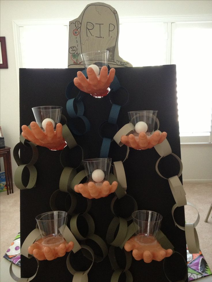 DIY Deadman's toss Halloween game