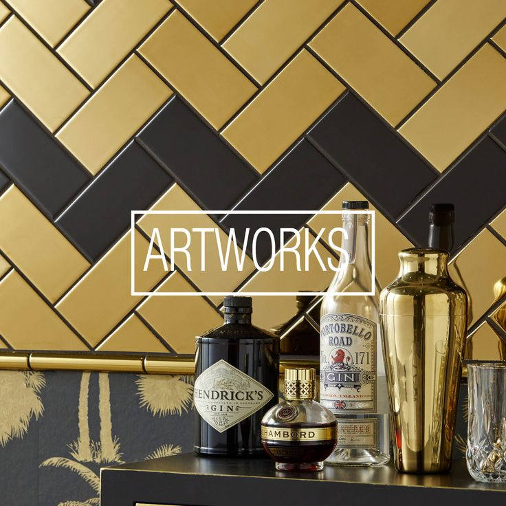 We like to think each Artworks tile is a small work of art in its own right, to be admired for its depth of colour, shape, size or decoration. The inspiration and background behind some of the collection comes from as far back as ancient Greek or Roman architecture, to the decorative arts of the Victorians and Edwardians, and well-known artists from different eras.