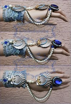 Arctic mermaid bracelet by Pinkabsinthe.deviantart.com on @deviantART