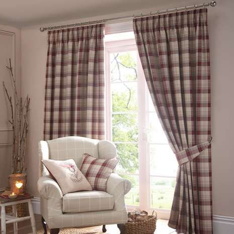 Ready made with lining to reduce external draughts and light entering your room, these red curtains feature a checked pattern and a traditional pencil pleat hea...