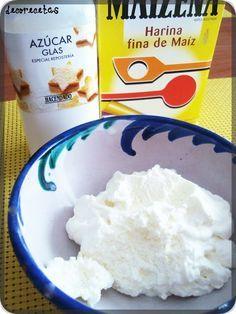 estabilizante de nata con maicena y azúcar glass