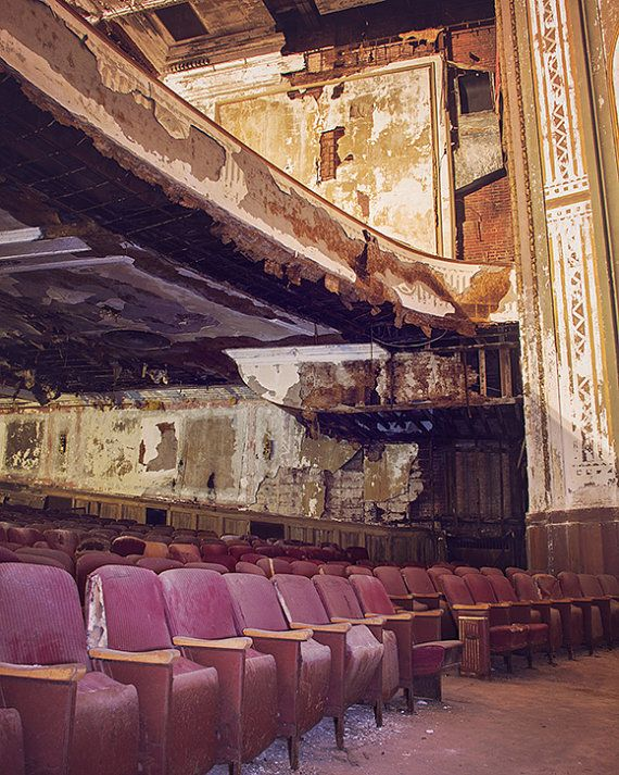 Urban Decay Photography Abandoned Theater by JillianAudreyDesigns