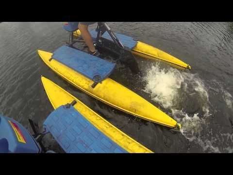 Hydrobike Fishing and catching a Muskie
