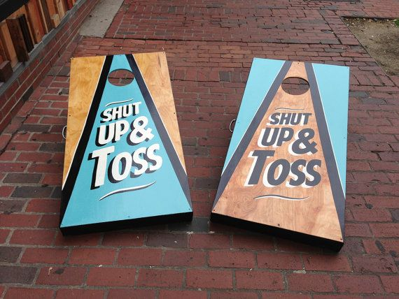 hand painted hand made cornhole game regulation by kateillustr8s 23000