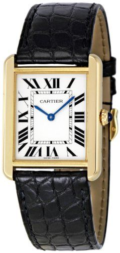 Cartier Women's W5200004 Tank Solo 18kt Yellow Gold Case Watch