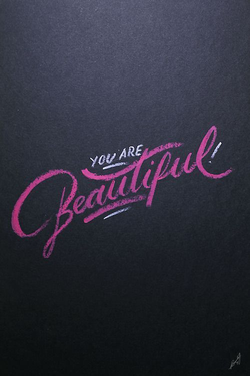25 Magnificent Lettering & Calligraphy Designs | From up North - Your are Beautiful!