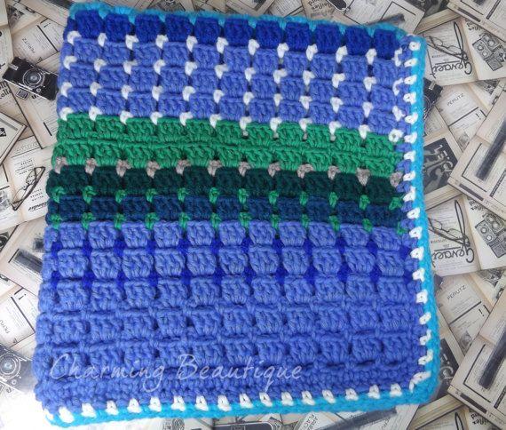 Crochet Baby Boy Wool Blanket