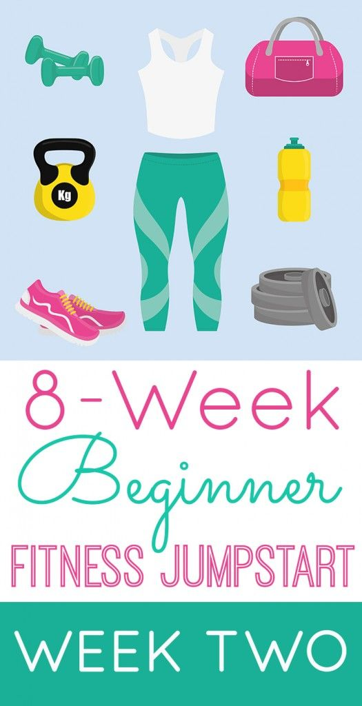 8-Week Beginner Fitness Jumpstart with Happiness is Homemade and Play. Party. Pin. FREE weekly meal plan and workout guide!