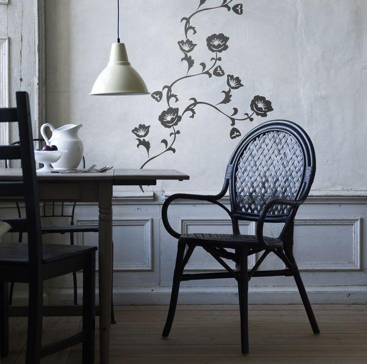 ÄLMSTA stoel   #IKEA #IKEAnl #zitstoel #zithoek #eettafel #rotan #rotanpalm #zwart