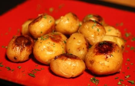 Rachael Ray Yukon Gold Baby Potatoes -- OMG! And relatively healthy, not to mention easy to make!