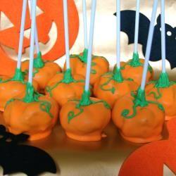 Halloween Milk Chocolate and Peanut Butter Pumpkin Pops
