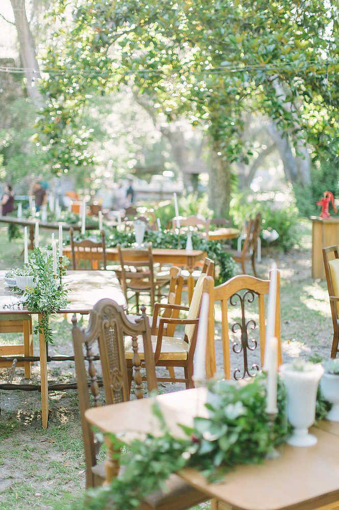 Wooden Tables For Reception Area Venue Decorations Pinterest