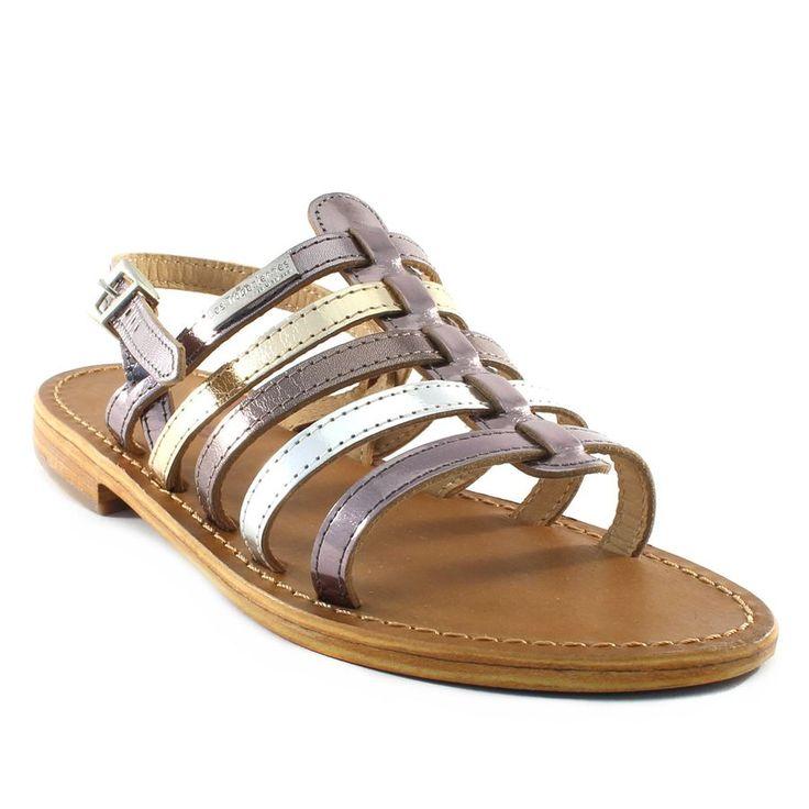743A LES TROPEZIENNES HAVANE MULTICOLOR www.ouistiti.shoes le spécialiste internet de la chaussure bébé, enfant, junior et femme collection printemps été 2015