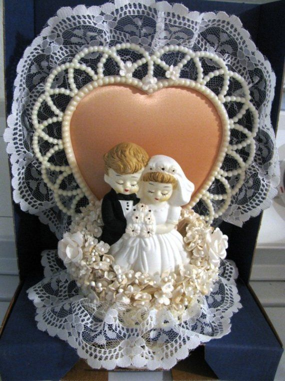 Wedding Cake Topper Vintage Wedding Cake Topper by TheIDconnection, $25.00