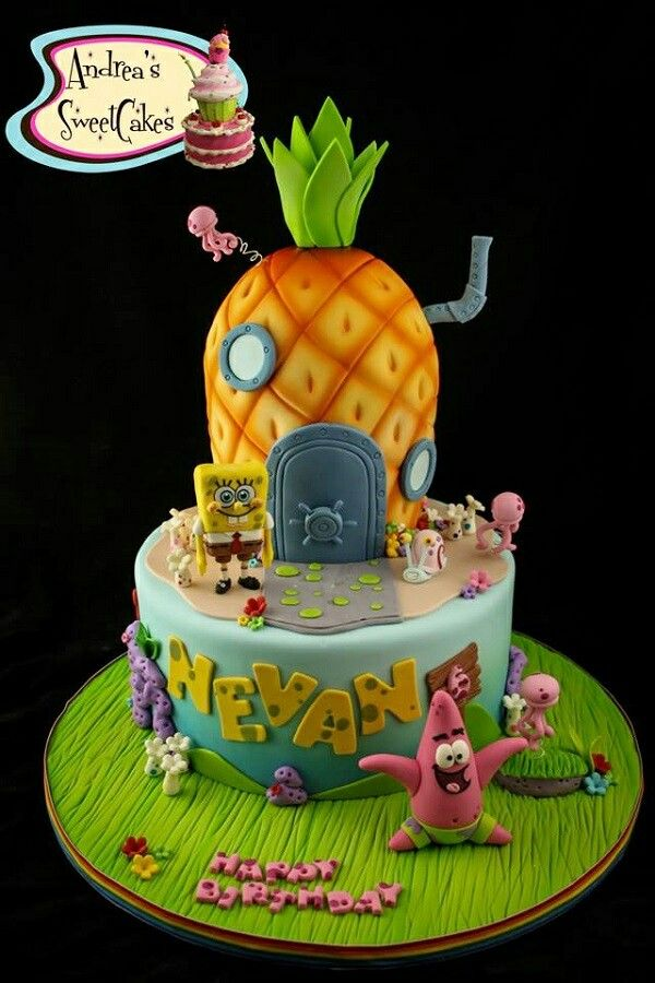 Spongbob Cake Design Spongebob Pinterest