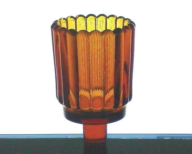 Home Interiors Peg Votive Candle Holder Rounded Ridged Light Amber Brand: Home  Interiors/Homco