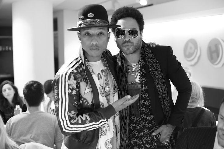Pharrell Williams et Lenny Kravitz