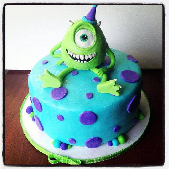 Monsters University Inspired Cake Decoration by CakeFreak on Etsy, $40.00