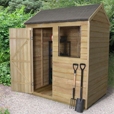 Wayfair  apex shed with window 6x4ft -