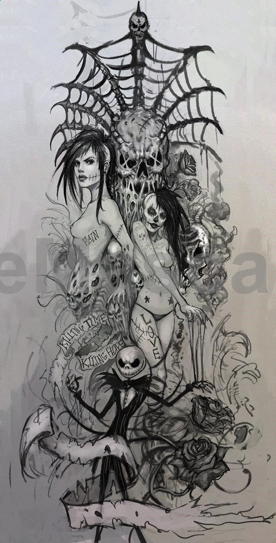 Zombie Girl Tattoo | Dead girls tattoo design 2 by ~Peter-Ortiz on deviantART