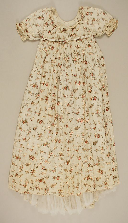 Dress  Date: 1796 Culture: British Medium: cotton Dimensions: Length at CB: 53 1/2 in. (135.9 cm) Credit Line: Gift of Mr. Alfred Lunt, 1955 Accession Number: C.I.55.50.4