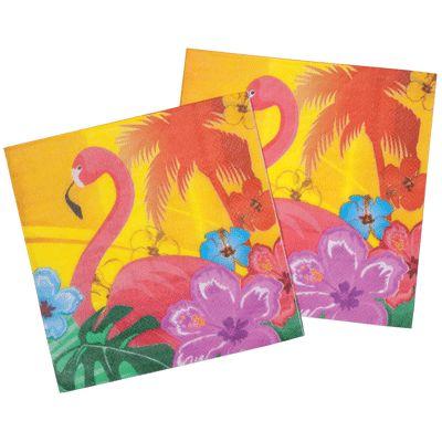 Party servetten hawaii hibiscus. Setje van 12 kleurige servetten in hawaii hibiscus thema. De hawaiiaanse servetten hebben een formaat van ongeveer 33 x 33 cm.