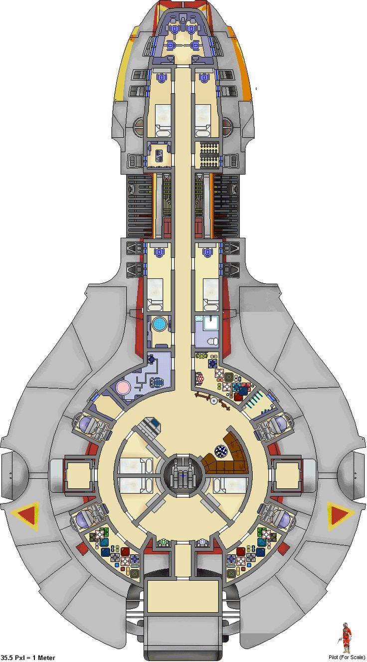 Photo Yt 2400 Deck Plan Images Star Wars Ship Floor