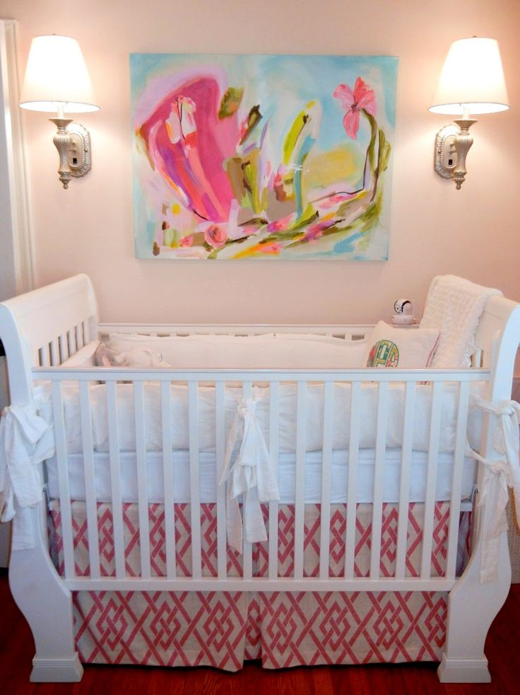 Sophisticated #Nursery with Colorful Abstract Painting