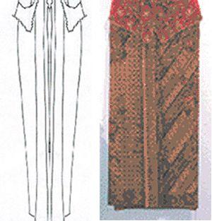 Wrap skirt (kain) of super fine cotton percale