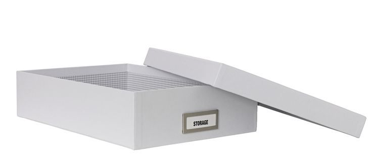 A4 Slim Document Box White