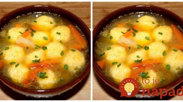 15-minútová polievka s nadýchanými haluškami z krupice: Geniálny recept do každej rodiny!