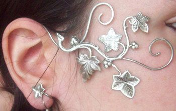 "Pair of Elven Earrings / Fairy Ear Wraps ""Dreamy Ivy"". €60,00, via Etsy.                                                                                                                                                                                 More"