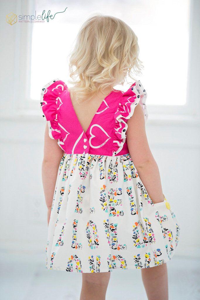 Jaimesyn\'s Double Flutter Top & Dress. PDF sewing pattern for ...