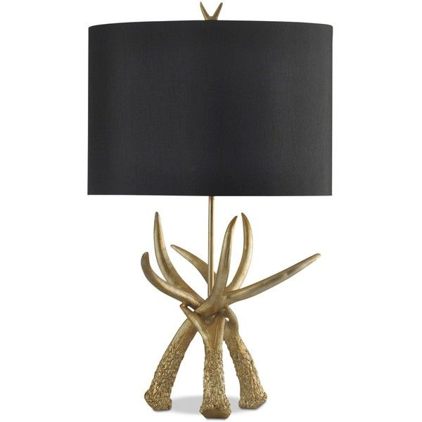 Get the lodge-chic look with the rugged Deer Horn table lamp from StyleCraft. A tangle of antlers comprises the base and finial and is offset by a dark drum sh…