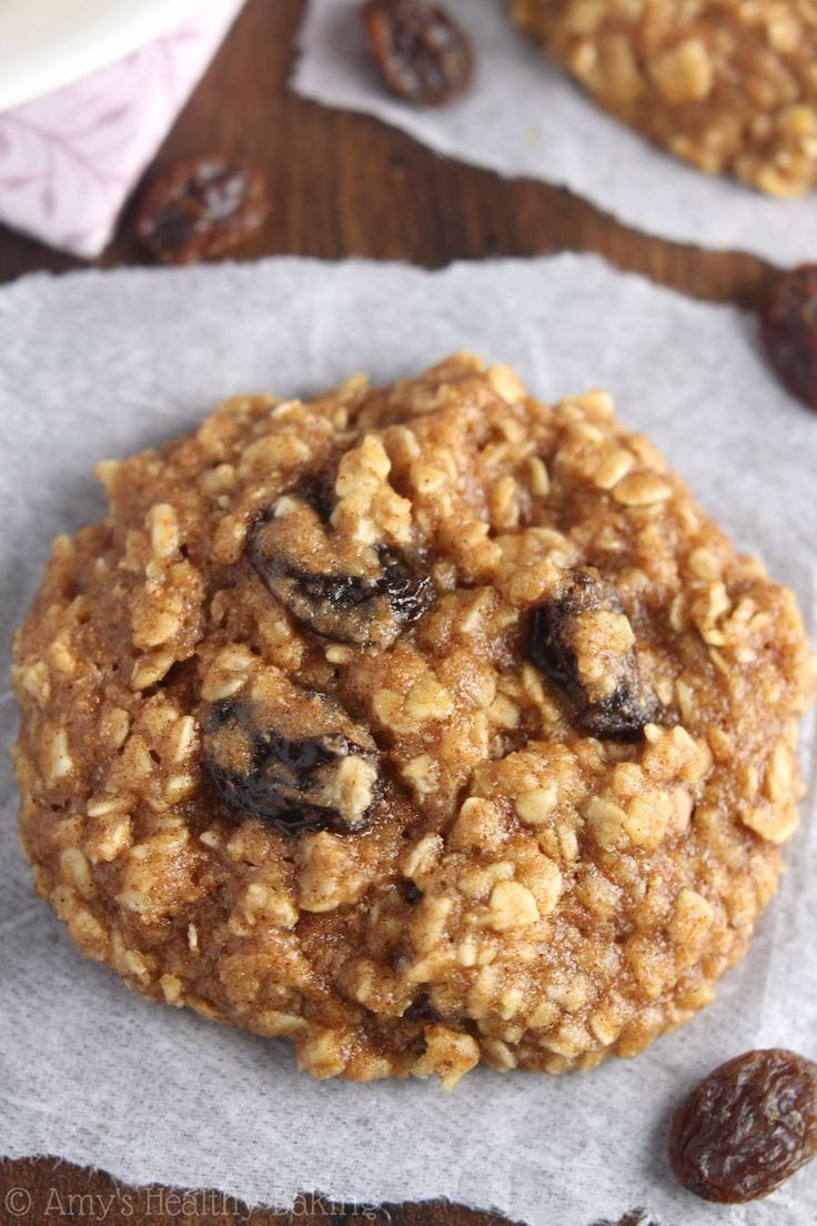 Soft & Chewy Oatmeal Raisin Cookies   Recipe   Clean eating oatmeal ...