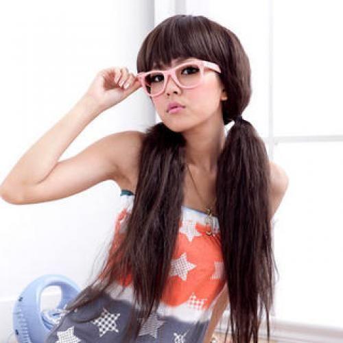 Long Full Wigs - Wavy Dark Brown - One Size