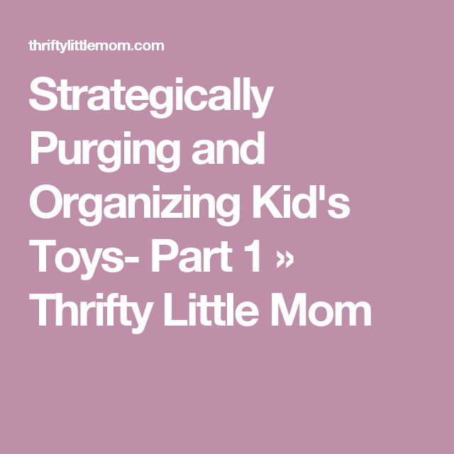Strategically Purging and Organizing Kid's Toys- Part 1 » Thrifty Little Mom