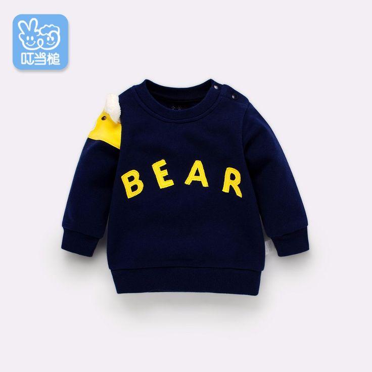 Dinstry spring & autumn new arrival for baby boy's & girl's sweatshirts,sport wear sweatshirt,Bear cartoon decoration on sleeve //Price: $56.76 //     #baby