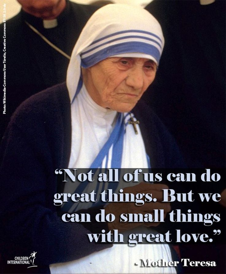 17 Best Quotes Of Mother Teresa On Pinterest