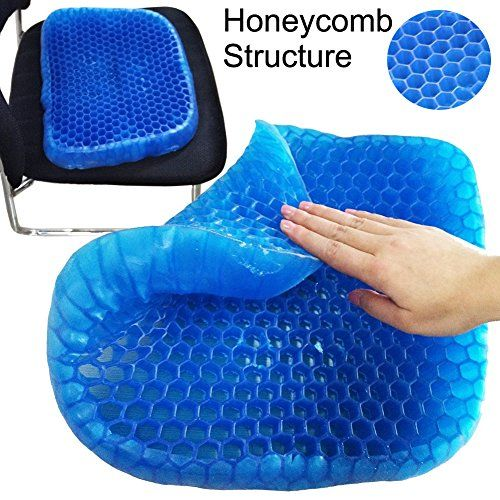 gel cushion for chairs kiddies chair covers sale cape town anyback sitter seat honeycomb pad wheelchair cushions office kitchen dining cars pressure relief