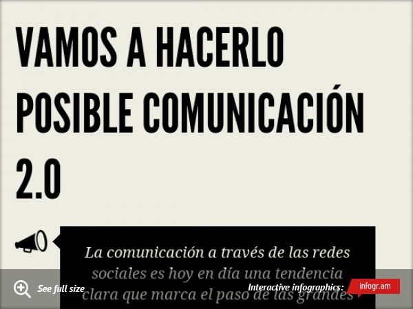 Infographic: Vamos a hacerlo posible Comunicación 2.0