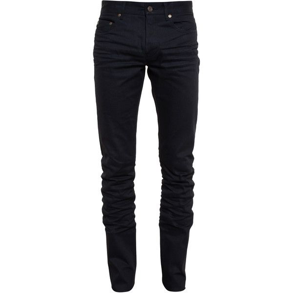 SAINT LAURENT Washed Skinny Jeans ($495) ❤ liked on Polyvore featuring mens, men's clothing, men's jeans, men, pants, bottoms, jeans and mens pants