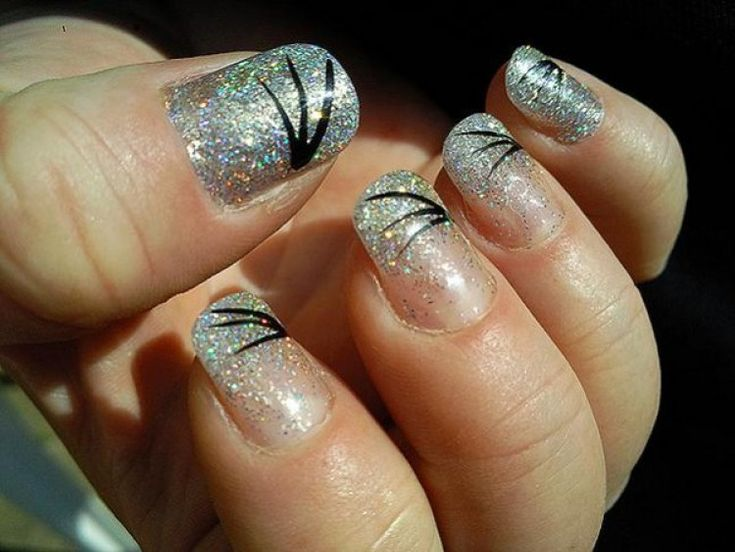 Apply Glitter To Shellac Nails