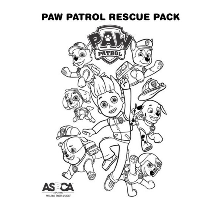 Paw Patrol Coloring Page Rescue Pack Paw Patrol Coloring