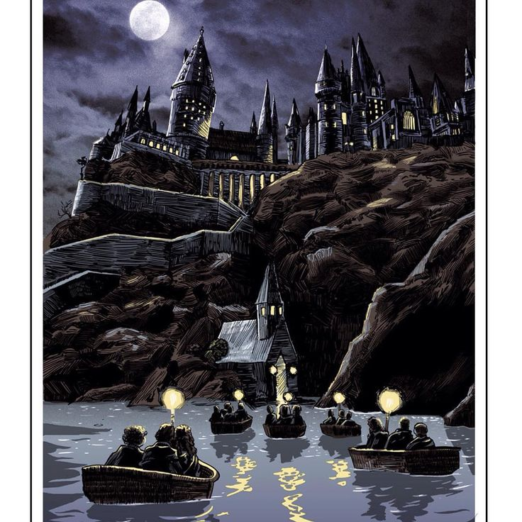 """""""Hogwarts limited edition screen print by @timothypdoyle - Online sales begin this Tuesday at 10am!"""""""
