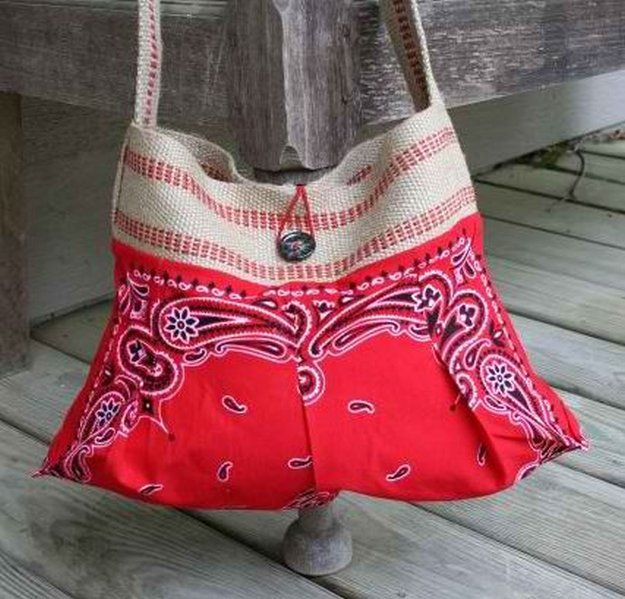 Bandana Crafts: 1776 Best Bags Up Cycled Images On Pinterest