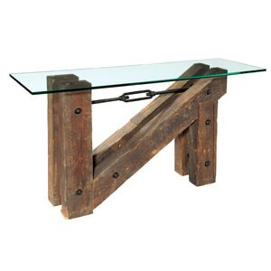 Nice Turning House Furniture Ghent Industrial Beam Console Table $710.04