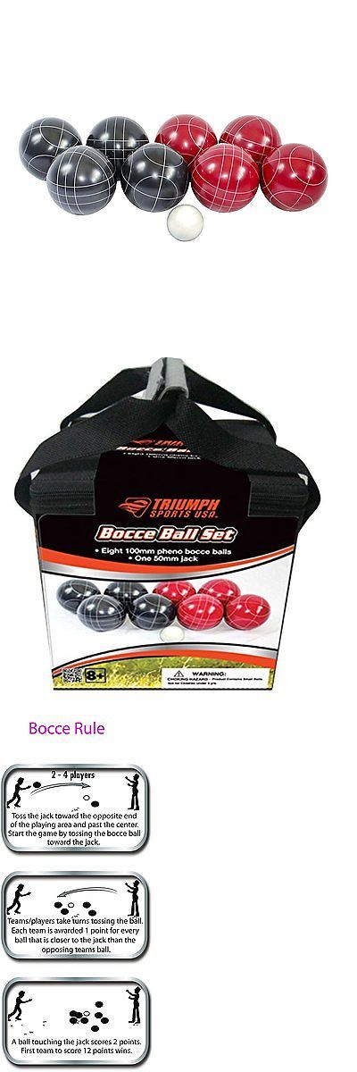 Bocce Ball 79788: Triumph Sports 100Mm Bocce Ball Set BUY IT NOW ONLY: $58.31