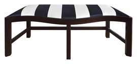 Serpentine Bench   BW  MidCentury  Modern, Traditional, Transitional, Upholstery  Fabric, Wood, Bench by Maxine Snider Inc